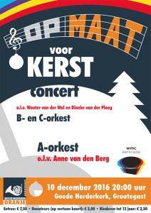 """Poster voor het """"Opmaat voor Kerst""""-concert"""