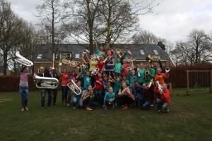 De jeugdorkesten op studieweekend met CMV Excelsior, Grijpskerk