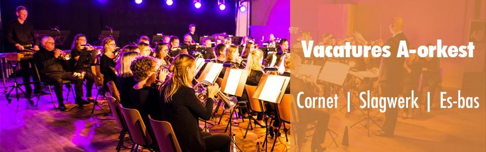 Vacatures voor cornet, slagwerk en es-bas!